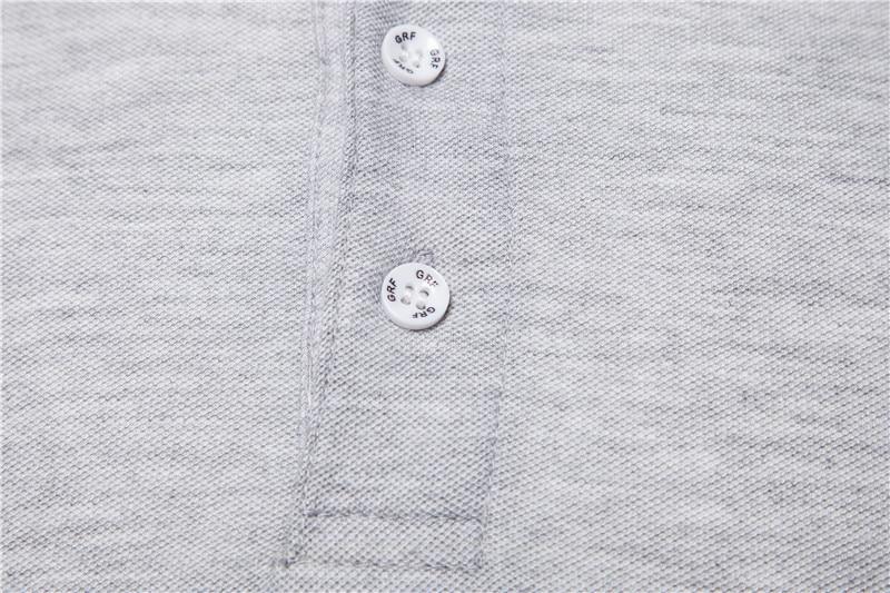 Dropshipping 2019 New Polo Shirt Men Solid Casual Cotton Polo Giraffe Men Slim Fit Embroidery Short Sleeve Men's Polo 10 Colors 6