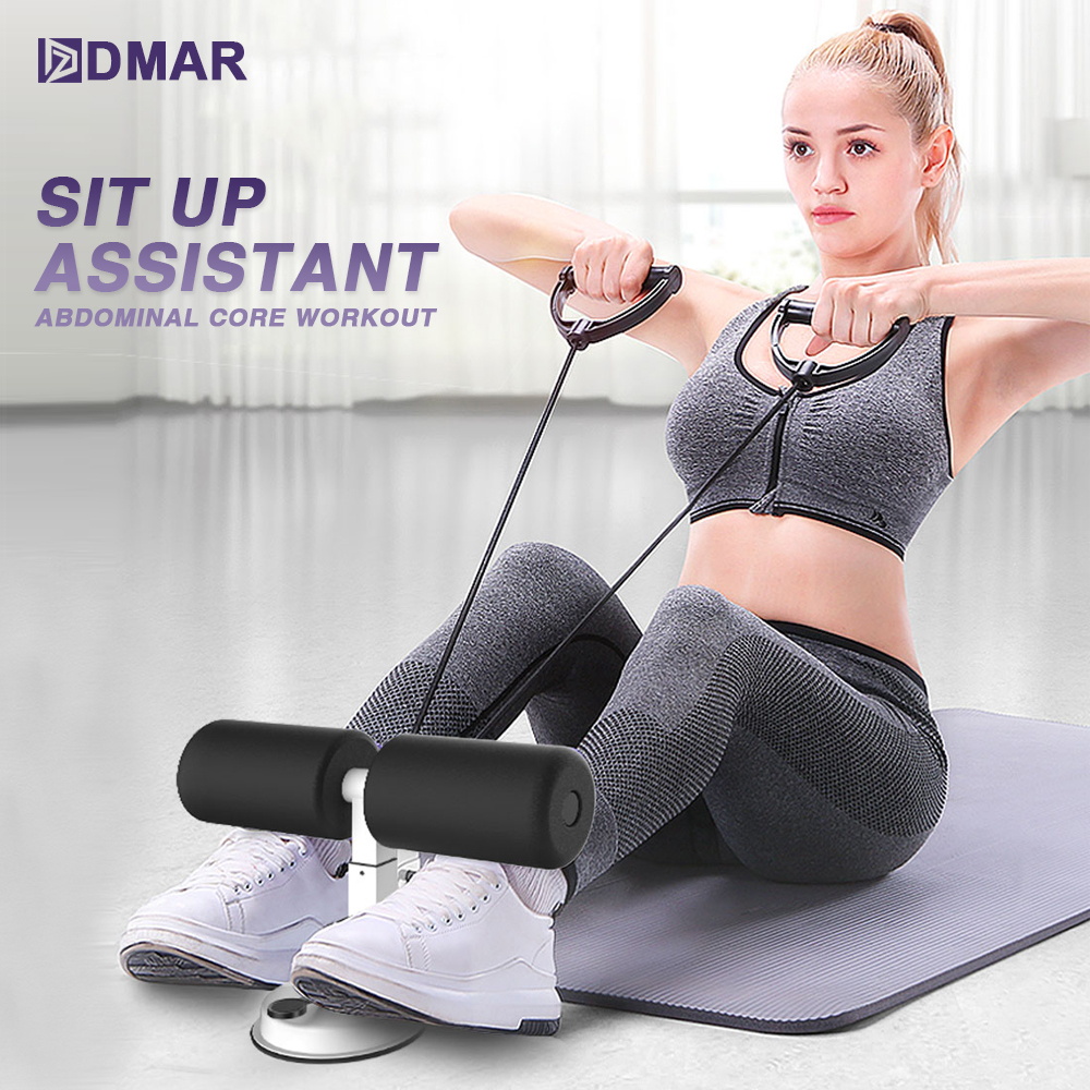 Sit Up Assistant Abdominal Core Workout Fitness Adjustable Sit Ups Exercise Equipment Portable Situp Suction Sport Home Gym