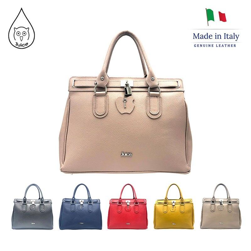 JUICE 2020 Spring,made In Italy, Genuine Leather Bag, Women Bag,Women Handbag,addition Long Shoulder Strap,112101