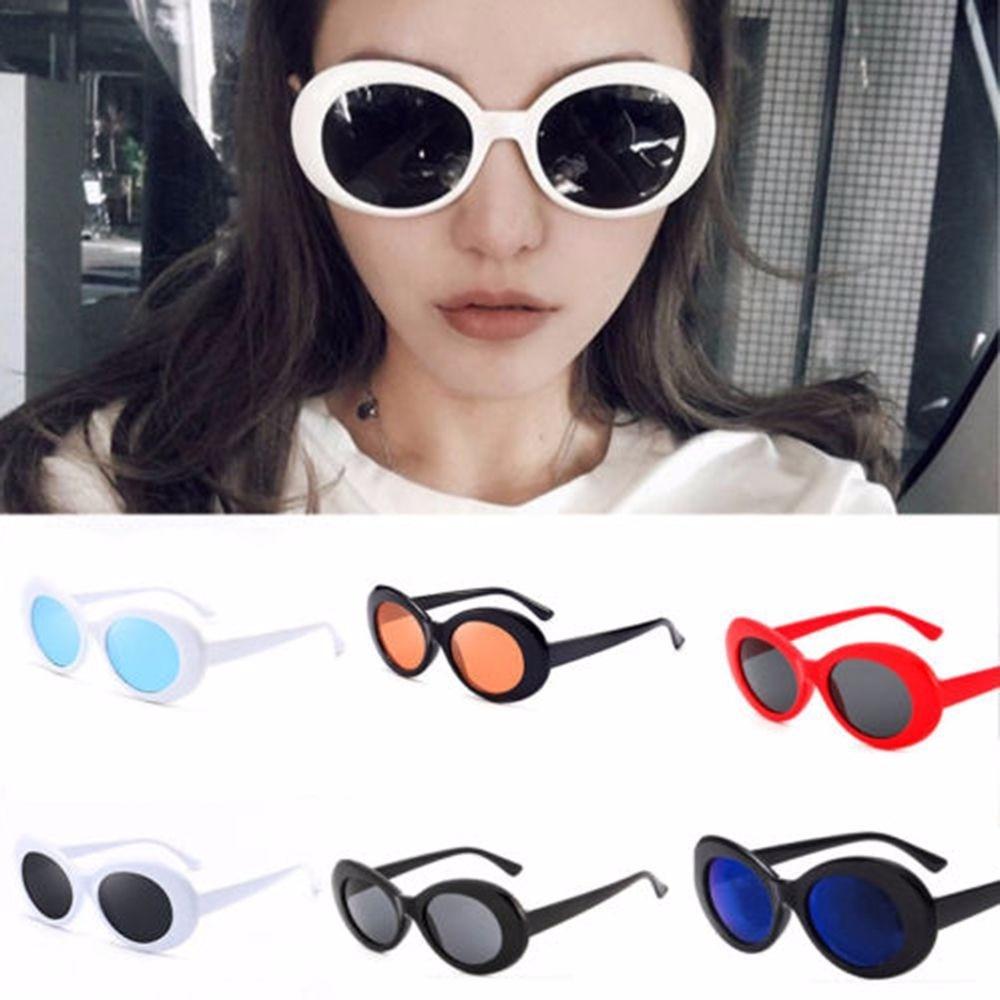 Солнцезащитные очки унисекс в стиле ретро, винтажные овальные очки в стиле панк, рок-группа, для вождения, занятий спортом на открытом возду...