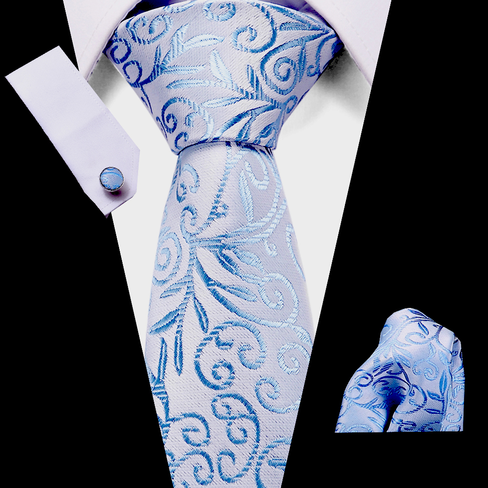 Luxury Polyester Woven Neckties Set Men's 7.5 Cm 100%Silk Print Tie Business Wedding  Formal Dress Accessories Mens Classic Ties