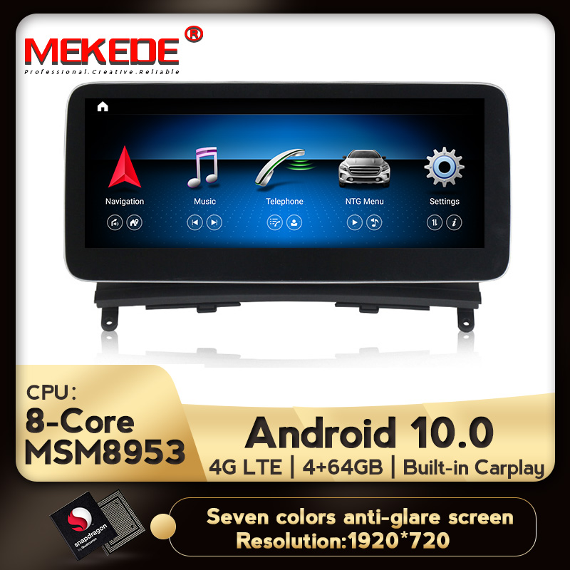 10.25 inch 4+64G Android Display for Mercedes Benz C-Class <font><b>W204</b></font> 2007-2010 Car <font><b>Radio</b></font> Screen <font><b>GPS</b></font> Navigation Bluetooth Touch Screen image