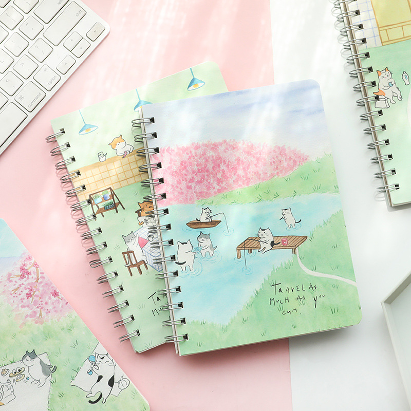 Notebook Simple Student A5 Thickened Coil Ben Stationery Korea Small Fresh Notepad