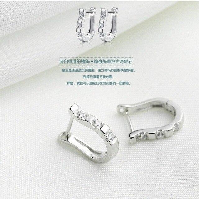 Zircon Studs HorseShoe Earrings  4