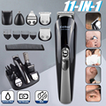 Kemei 11 в 1 многофункциональная машинка для стрижки волос профессиональный триммер для волос Электрический триммер для бороды машинка для стр...