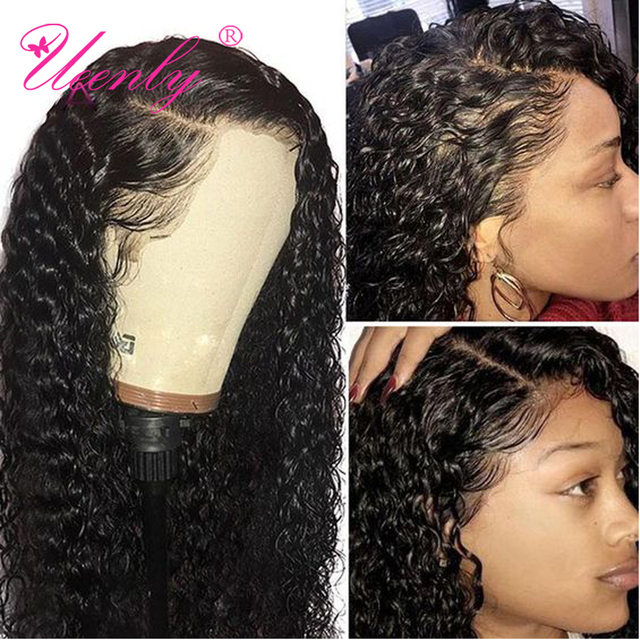$ US $50.96 UEENLY 13x4/13x6 Lace Front Human Hair Wigs Brazilian Curly Wave Human Hair Wigs 360 Lace Frontal Wig Pre Plucked With Baby Hair