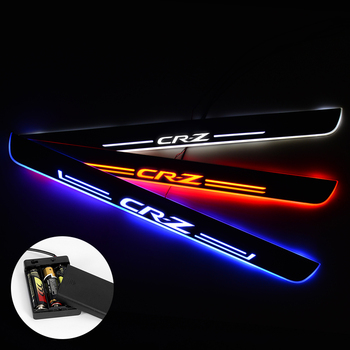 LED Door Sill For Honda CR-Z CRZ 2010 - 2018 Streamed Light Scuff Plate Acrylic Battery Car Door Sills Accessories led door sill for honda accord ii ac ad 1983 1985 door scuff plate entry guard threshold welcome light car accessories