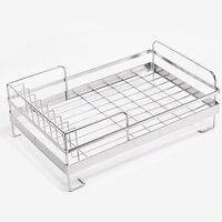 Storage Shelf Drain Organizer Household Stainless Steel Dish Drying Bowl Rack