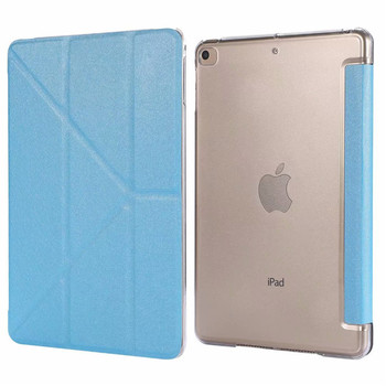 Smart Cover for iPad Mini2 3 Case for iPad Mini 1 2 3 4 5 Case PU Leather Hard Plastic Back Cover with Trifold Stand Auto Sleep multifunction protective plastic back case w stand for iphone 4 4s blue yellow deep pink