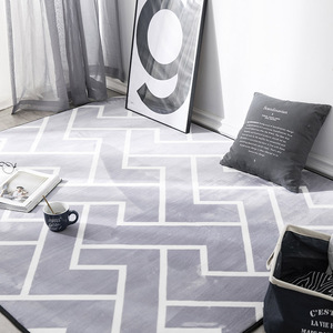 Geometric Plush Nordic Rug and Carpets for Living Room Bedroom Floor Climbing Child Kid Baby Play Mat Bathroom Door Mat alfombra(China)