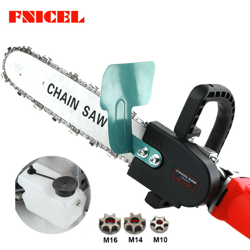 Universal 11.5inch Electric Chainsaw Bracket Adjustable M10/M14/M16 Chain Saw Part Angle Grinder Into Chain Saw