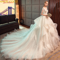 Vestido de Noiva Princess Wedding Dress Maternity Dress Ball Gown Beads Applique Lace Bride Dress Bridal Gown Robe De Mariee