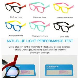 Image 5 - Longguard enfants Vintage UV400 Spectacle lunettes rondes cadre ordinateur jeu clair lentille Anti UV Anti lumière bleue Rivet lunettes