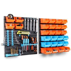 Hardware tool Hanging board Garage Workshop Storage rack Screw wrench classification hook up Component box Parts tool box