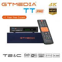 GTMEDIA TT PRO DVB-T2/Cable Receptor Digital por satélite DVB-T2 sintonizador de Tv Wifi gratis Digital Receptor HD 1080P Manual ruso TV Box