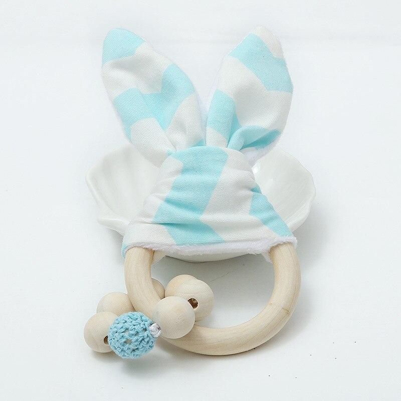 INS Children Beaded Bracelet Decoration Baby Wooden Toy String Beaded Bracelet Rabbit Eared Beaded Bracelet Filming Props
