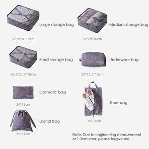 Image 2 - 7 sztuk/zestaw Cation torby podróżne wodoodporne etykiety na walizki pakowanie organizator kobiety przenośne pakowanie odzież sortowanie Case akcesoria do toreb