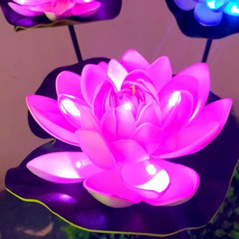 solar powered lampada ao ar livre a prova dwaterproof agua led lotus villa decoracao do jardim