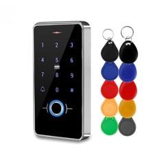 Outdoor IP68 Waterproof Fingerprint Access Control Keypad RFID Keyboard Touch Electronic Door Opener System Biometrics 13.56MHz