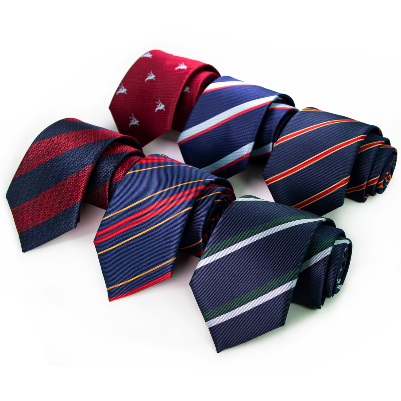 JEMYGINS High-end Men's Tie Sea Land And Air Royal Legion Silk Tie 8cm Men's Striped Business Formal Necktie