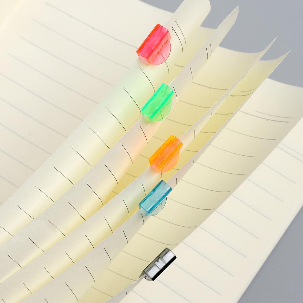 JIANWU 20pcs Colors Plastic Mini Bookmark Multifunctional Creative Bookmark Clip For School Office Supplies