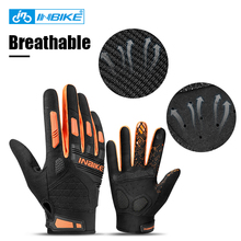 INBIKE Full Finger Cycling Gloves Breathable MTB Riding Gloves Long Finger Bicycle Gloves Touch Screen Outdoor Sports Shockproof