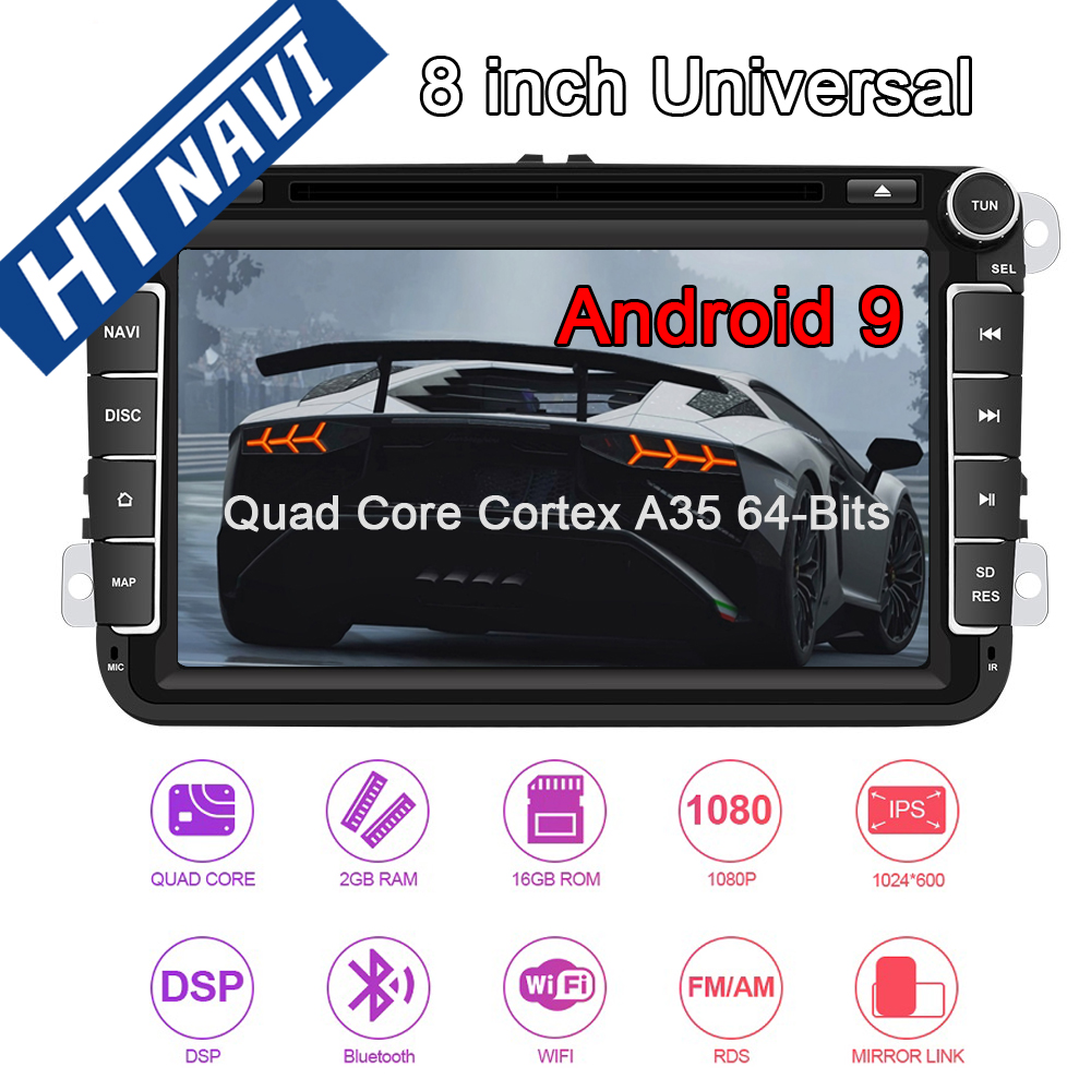 Android 9 Car Multimedia Player Navigation Stereo DVD Car Radio <font><b>2</b></font> <font><b>Din</b></font> For Skoda Octavia Fabia Limousine Combi Roomster Superb image