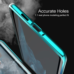 Image 5 - Hacrin Case For Huawei P40 Lite Case Magnetic Adsorption Metal Tempered Glass Bumper Case For Huawei P40 P 40 Lite Case Cover