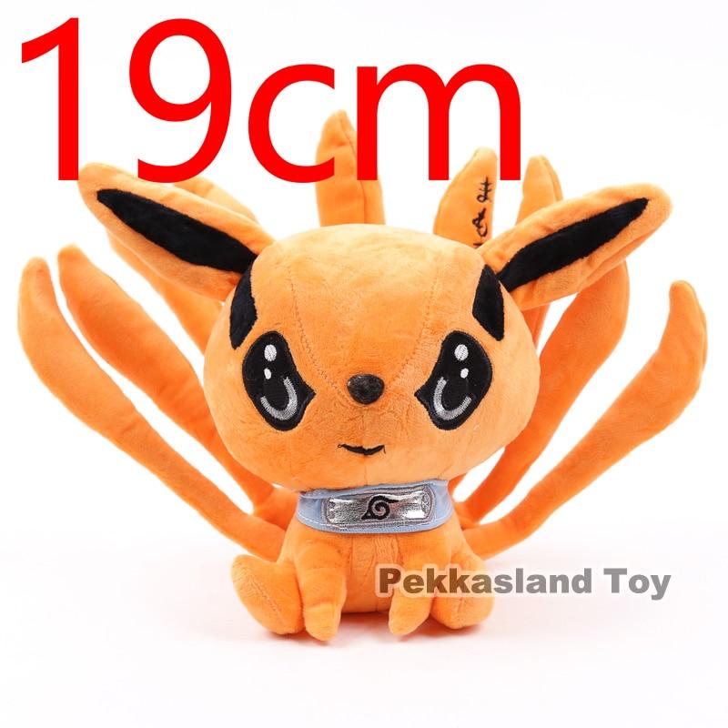 Naruto Shippuden Kurama Kyuubi Plush Toy Soft Stuffed Animal Doll 19cm