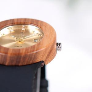 Image 4 - BOBO BIRD kompletny zegarek z kalendarzem kobiety Zebra zegarek kwarcowy z drewna panie drewniane zegarki relogio feminino Dropship