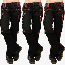 Ladies Cargo Pants High Waist Black Streetwear Vintage Punk Goth Pants  Women Summer Pants Casual Long Trousers joggers D30