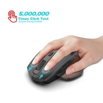 Jelly Comb-ratón inalámbrico para videojuegos, recargable, 2,4G, diseño ergonómico, 6 botones, silencioso, para portátil, Notebook, escritorio 3