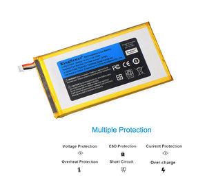 Image 2 - Kingsener P706T Nieuwe Tablet Batterij Voor Dell Venue 7 3730 Venue 8 3830 T02D T01C T02D002 T02D001 0CJP38 02 Pdjw 3.7 V 15.17wh