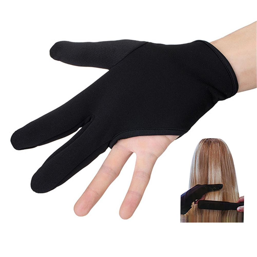 1Pair Hair Straightener Perm Curl Hairdressing Heat Resistant High Temperature Gloves Black Gloves Shape Hair Accessories