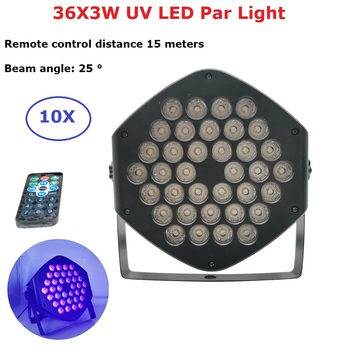 DMX LED Par 36X3W UV Purple LED Stage Light Par Light With DMX512 For Disco DJ Projector Machine Party Decoration Stage Lighting free shipping 2016 rechargeable 2 4g ism wireless dmx512 xlr receiver unit led lighting for stage par party light