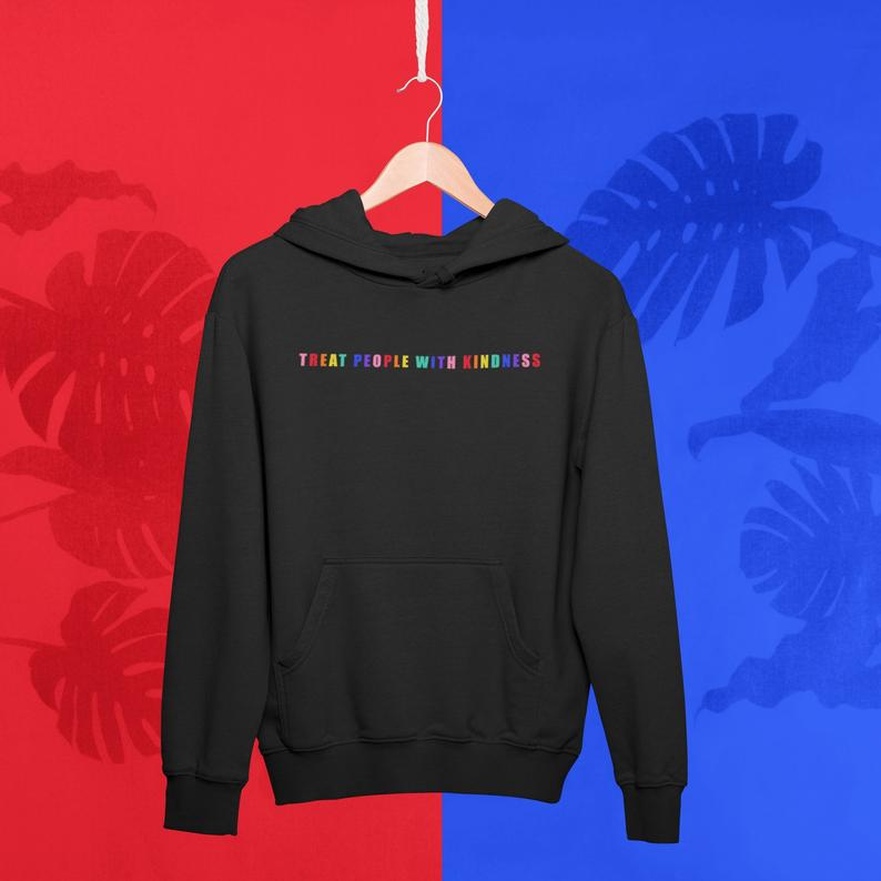 Men's Harry Styles Rainbow Color tpwk Hoodie Sweatshirts Unisex Winter Harajuku Hooded Boy Male Clothes