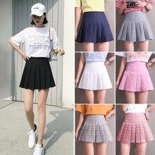 Плиссированная юбка для девочек с шортами с завышенной талией, короткие платья, модная униформа для школьников, студентов, команд, спорта, б...