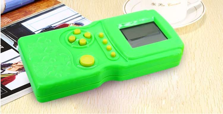 Electronic Games For Children Tetris Game Machine Children Puzzle Handheld Electronic Game/tetris Battery Operated Plastic > 3