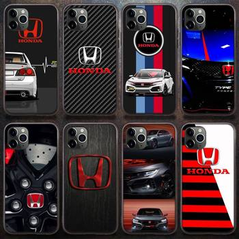 HONDA Sports car Type R JDM DIY Phone Case for iPhone 8 7 6 6S Plus X 5S SE 2020 XR 11 12 Pro mini pro XS MAXSoft Phone Cover image