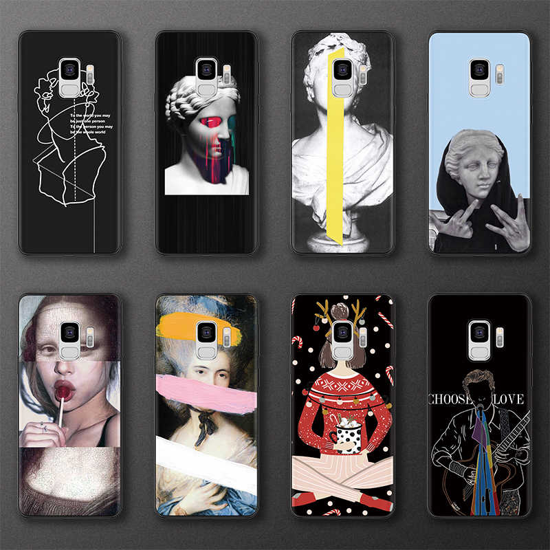 Mona Lisa Sculpture Cases For Samsung Galaxy A50 A30 A5 A7 A9 A8 A6 Plus 2018 A3 2017 For Samsung S9 S8 S10 S6 S7 Edge Plus Case
