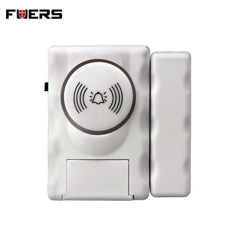 Fuers Wireless Home Security Door Window Entry Alarm Warning System 105db Built-in Siren Magnetic Sensor