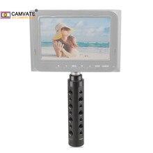 """CAMVATE אלומיניום סגסוגת מצלמה ידית אחיזה עם 1/4 """" 20 חוט ראש עבור וידאו/צג/פלאש אור/דיגיטלי מצלמות מצלמות וידאו"""