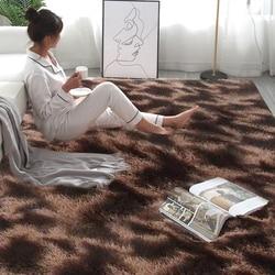 Tapis en peluche pour salon décor tapis en fausse fourrure chambre d'enfants longs tapis en peluche pour chambre tapis Shaggy tapis moderne