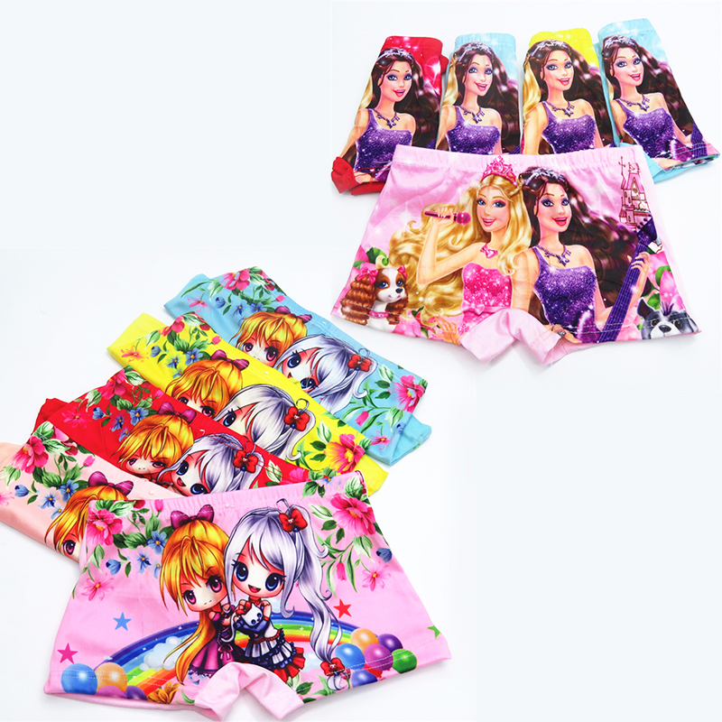 5pcs/lot Girls Underwear Children 3D Cartoon Panties Kids Cozy Underpants Infant Baby Girl Panties Boxer Briefs