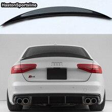 S4 Hk Style Carbon Fiber Rear Spoiler Wing Voor Audi A4 B8.5 S4 4 Deur 2013 ~ 2016