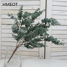 45cm nórdico viento plantas artificiales manojo de eucaliptus dinero hoja hogar boda Deco arreglo de flores accesorios de fotografía gris verde