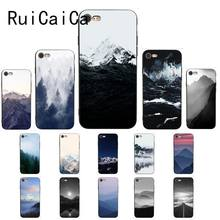 Landschaft landschaft gemalt Meer Welle Himalaya Coque Shell Telefon Fall für iPhone 8 7 6 6S 6Plus 5 5S SE XR X XS MAX Abdeckung(China)
