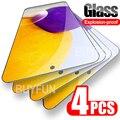 4 шт. Защитное стекло для Samsung Galaxy A72 A52 A42 A32 A12 A02 4G/5G защитные очки полное покрытие закаленное стекло процессором обработки изображений 72 52 32