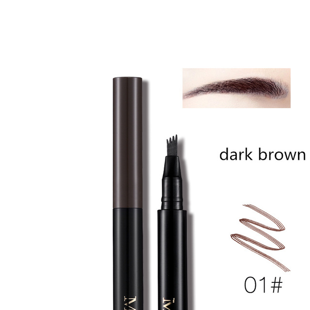 Miss Rose Fork Tip Fine Sketch Liquid Eyebrow Pencil Microblading Eye Brow Pen Tattoo Tint Waterproof Smudge Proof  Makeup Kit 3