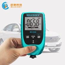 MILESEEY Высокоточный цифровой датчик толщины покрытия, автомобильный детектор краски, измеритель толщины краски, автоматический тестер толщины